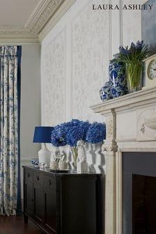 Laura Ashley White Oriental Garden Pearlescent Wallpaper