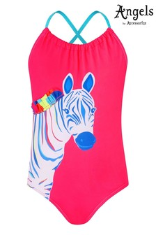 Accessorize Multi Recycled Zoe Zebra Swimsuit