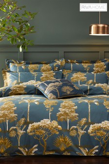 Riva Home Arboretum Botanical Print Cotton Sateen Duvet Cover and Pillowcase Set