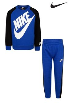 Nike Little Kids Blue Crew And Joggers Set