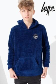 Hype. Blue Kids Pullover Sherpa Hoody