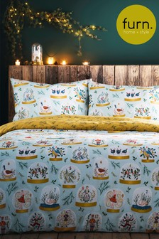 Furn 12 Days Of Christmas Duvet Cover and Pillowcase Set
