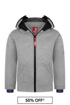 Boys Grey Zip Up Top With Lenses
