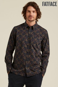 FatFace Blue Woodland Print Shirt