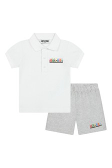 Moschino Kids Baby Boys White Cotton Outfit
