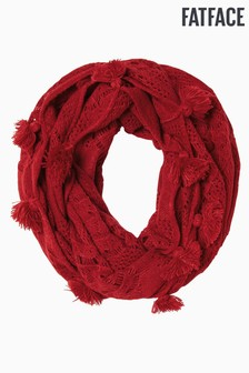 FatFace Red Crochet Snood