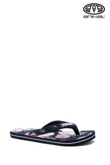 Animal Blue Swish Slim Up Print Flip Flops
