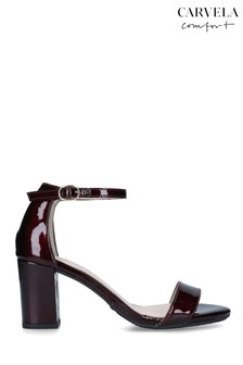 Carvela Red Abigail Patent Heeled Sandals