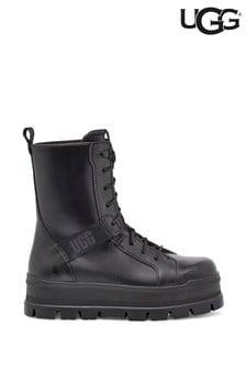 UGG® Black Sheena Punk Combat Boots