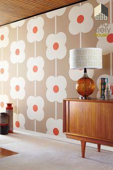 Orla Kiely Giant Abacus Flower Wallpaper