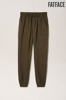 FatFace Green Lyme TENCEL™ Cuffed Trousers