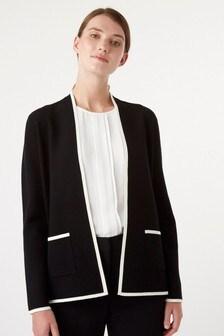 Hobbs Black Monica Knitted Jacket