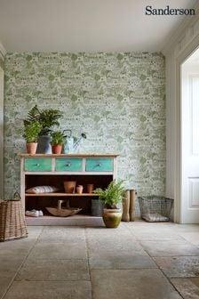Sanderson Home Green The Allotment Wallpaper