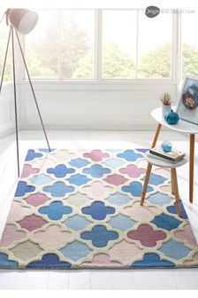 Trellis Geo Wool Rug by Origins