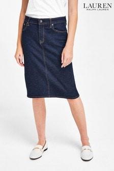 Lauren Ralph Lauren® Rinse Wash Daniela Midi Denim Pencil Skirt
