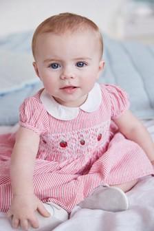 Cotton Strawberry Prom Dress (0mths-2yrs)