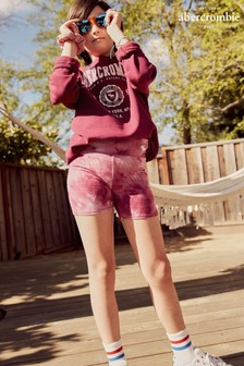 Abercrombie & Fitch Tie Dye Cycling Shorts