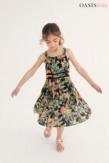 Oasis Tropical Pleat Dress