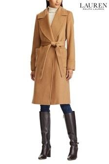 Lauren Ralph Lauren® Camel Wool Wrap Overcoat