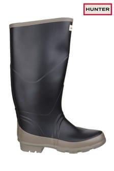 Hunter Black Argyll Bullseye Wellington Boots