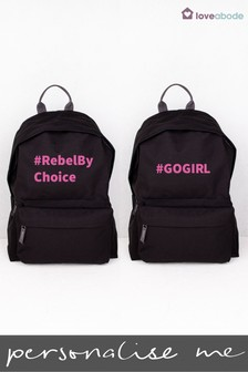 Personalised Hashtag Go Girl Backpack by Loveabode