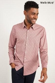 White Stuff Pink Abstract Fern Print Shirt