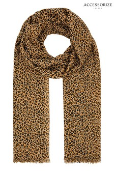 Accessorize Leopard Ditsy Leopard Print Scarf