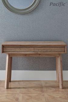 Pacific Sand Wash Acacia Wood 2 Drawer Desk