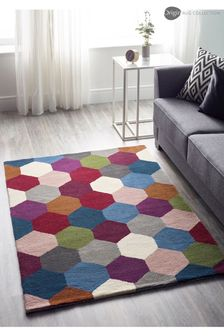 Hexagon Geo Wool Rug by Origins