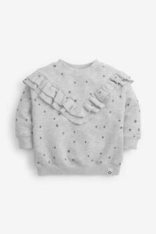 Glitter Spot Frill Sweatshirt (3mths-7yrs)