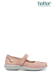 Hotter Pink Quake Touch Fastening Mary Jane Shoes