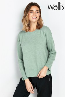 Wallis Mint Green Crew Neck Jumper