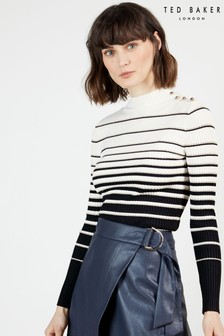 Ted Baker Wanada Stripe Short Sleeve Jumper