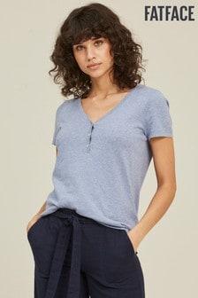 FatFace Blue Layla Sparkle Knit T-Shirt