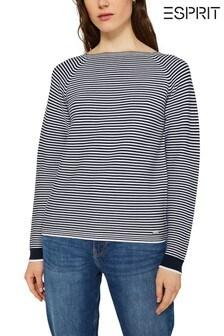 Esprit Blue Stripe Long Sleeve Sweatshirt