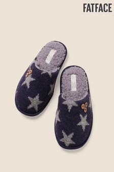 FatFace Blue Star Knitted Mules