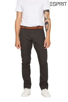 Esprit Grey Chino Slim Fit Pants