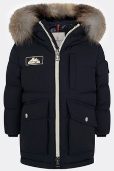 Boys Dark Blue Down Padded Coat