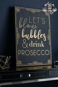 Prosecco Time Wall Art by Art For The Home