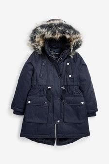 Faux Fur Hooded Parka (3-16yrs)