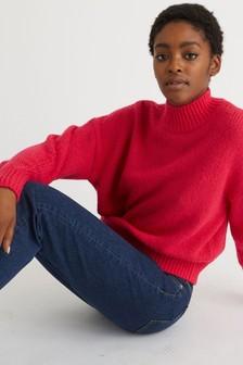 Oliver Bonas Highland Pink Knitted Jumper