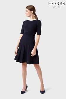 Hobbs Blue Aubrey Knitted Dress