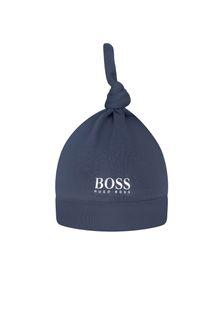 Boss Kidswear Baby Boys Navy Cotton Hat