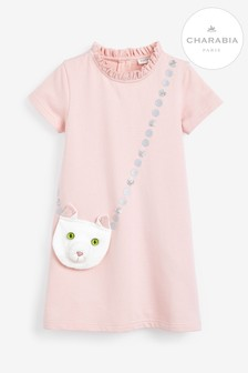 Charabia Pink Cat Purse Dress