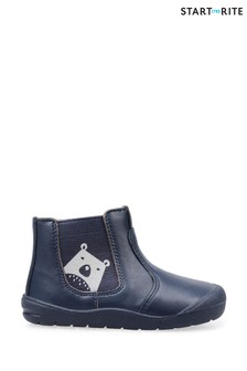 Start-Rite Blue First Chelsea Shoes