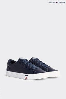 Tommy Hilfiger Blue Corporate Leather Trainers