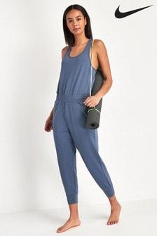 Nike Yoga Blue 7/8 Jumpsuit