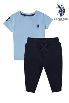 U.S. Polo Assn. Blue Player 3 T-Shirt & Jogger Set