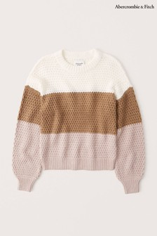Abercrombie & Fitch Multi Stripe Knitted Top