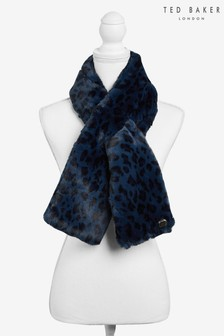 Ted Baker Blue Leonnaa Classic Faux Fur Scarf